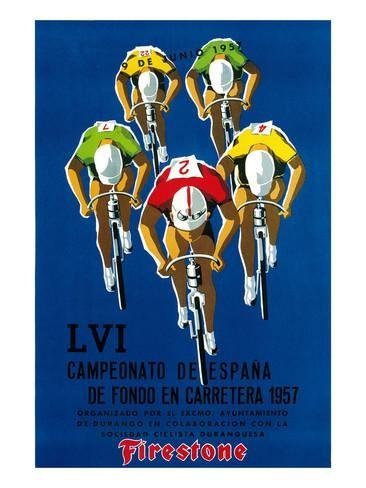 Cartel de carrera ciclista Lámina