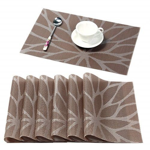 Artand Placemats Heat Resistant Placemats Stain Resistant Anti Skid Washable Pvc Table Mats Placemats Kitchen Placemats Dining Table Setting