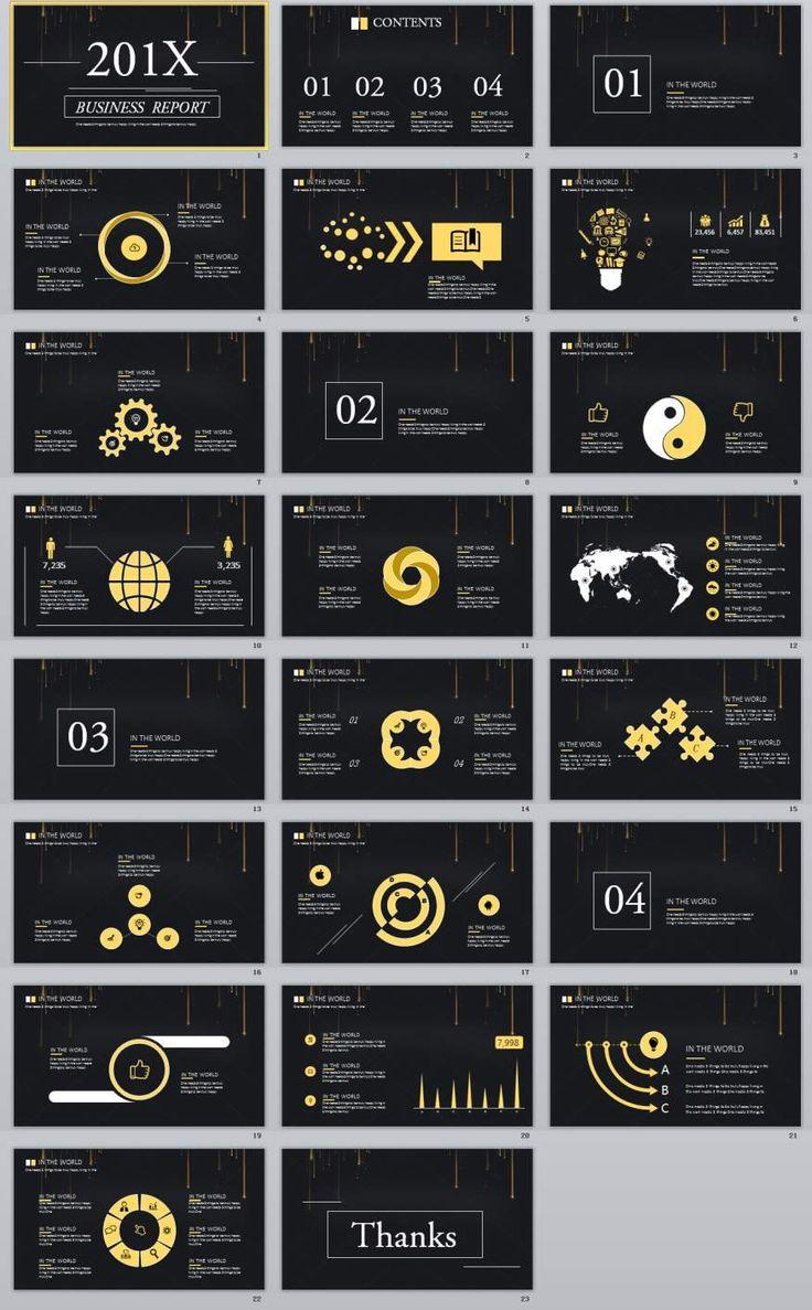 23+ black business plan report PowerPoint templates