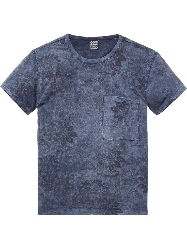 Marble Wash T-Shirt | T-shirt s/s | Men's Clothing at Scotch & Soda