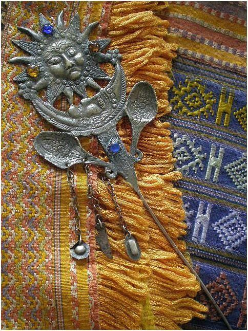 Fabulous Wearable Folk Art Treasure! ... The traditional tupo (also known as tupu) was a large pin used by women of Peru, Bolivia, and Ecuador to