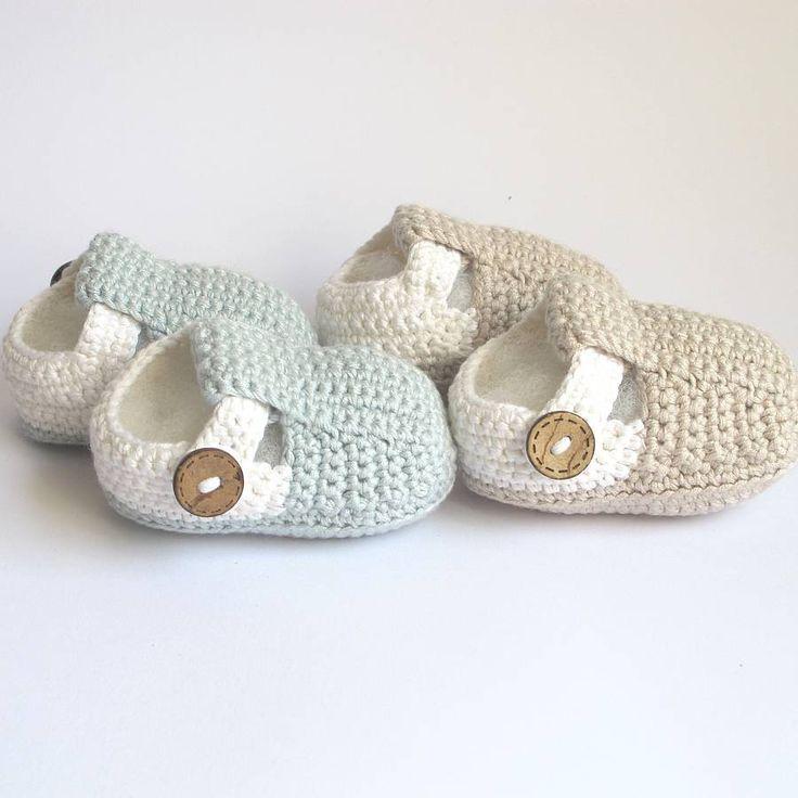 mão bar t crochet do bebê sapatos de sótão    notonthehighstreet.com: