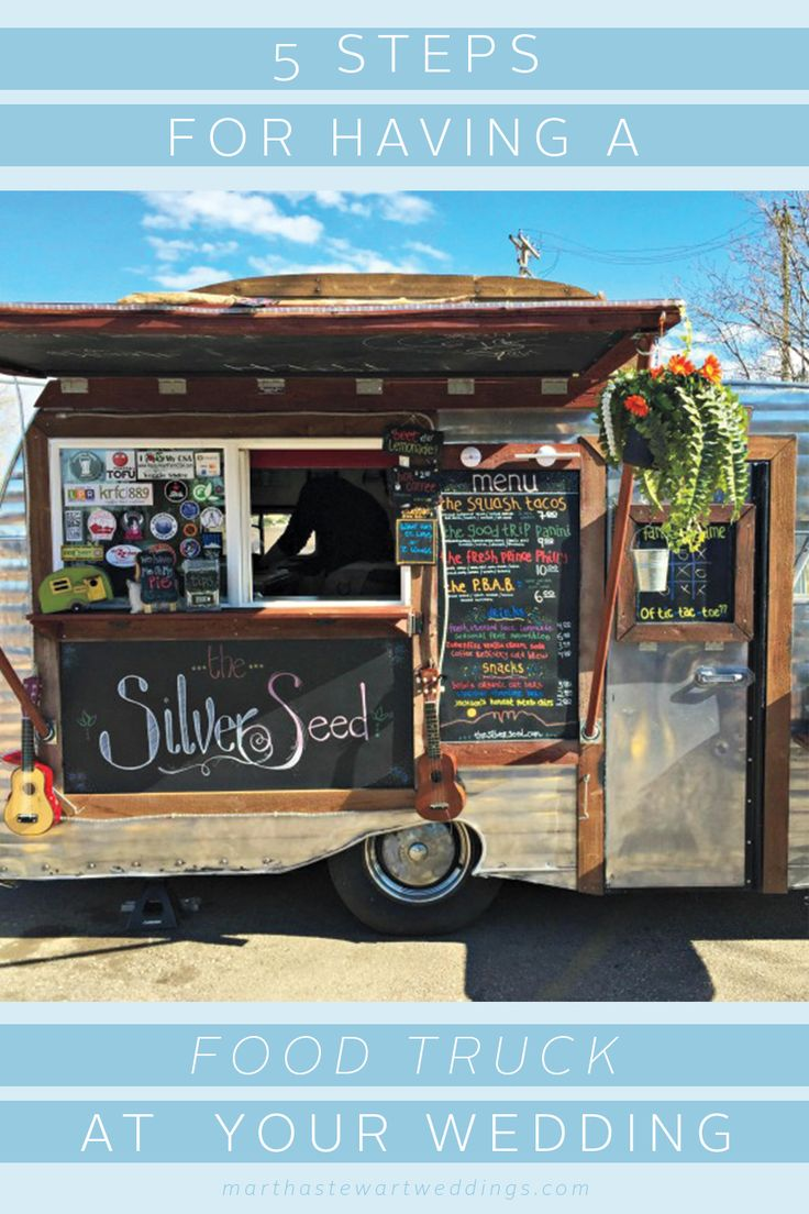 Hello, chic! Swap out a wedding caterer for a food truck. | Martha Stewart Weddings