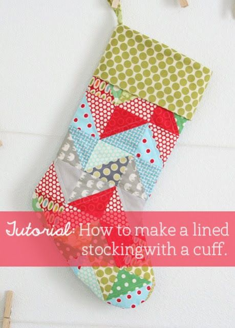 How to make a lined stocking with a cuff.