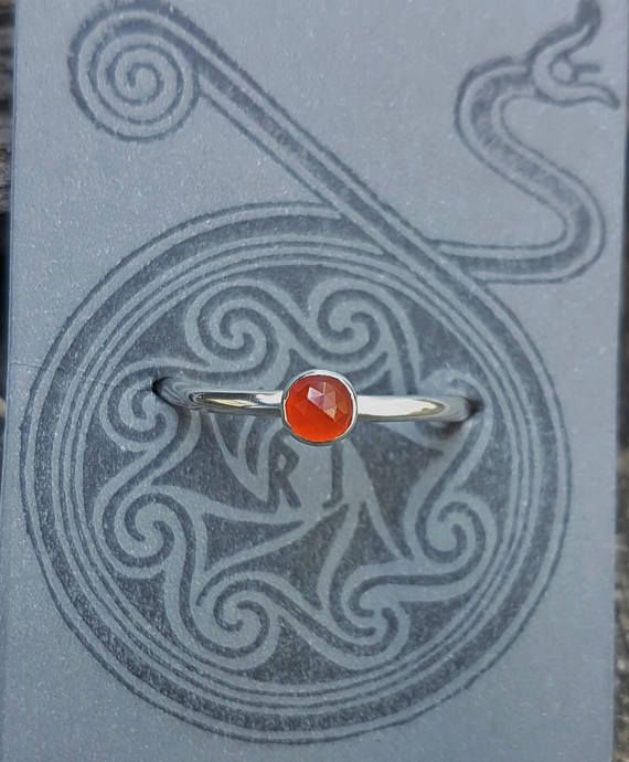 Faceted Carnelian & Eco Sterling Silver Ring by Runik Jewellery Australia  Check out the shop: www.etsy.com/au/shop/RunikJewelleryAU