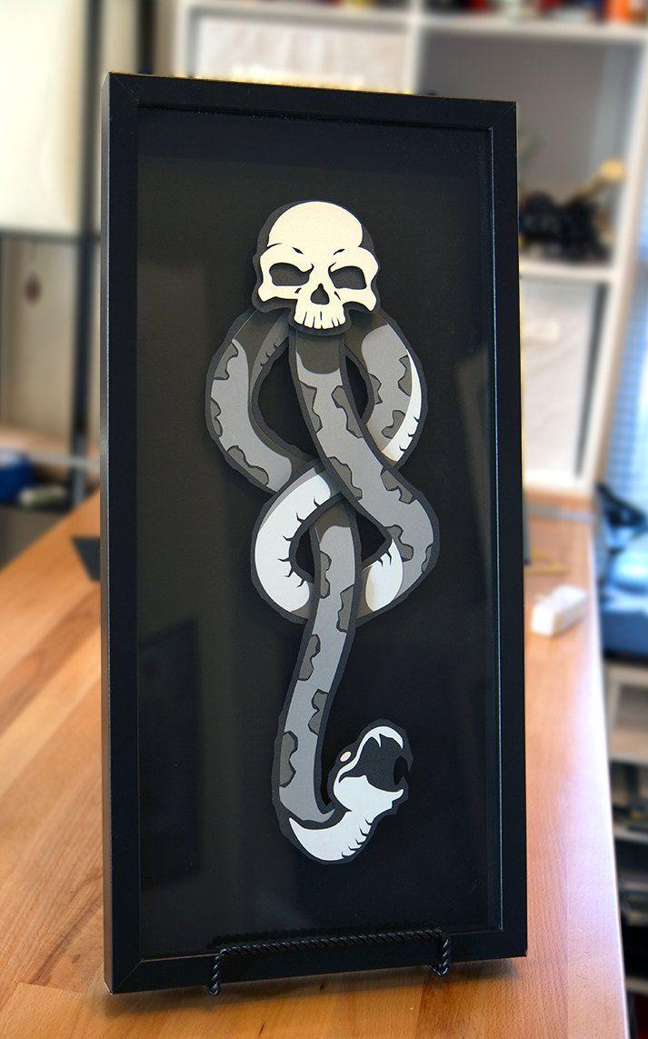 Dark Mark Harry Potter Voldemort 3d Hand Cut Paper Craft