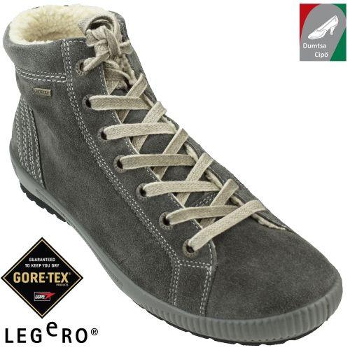 Legero vízálló női bőr cipő 00619-88 szürke