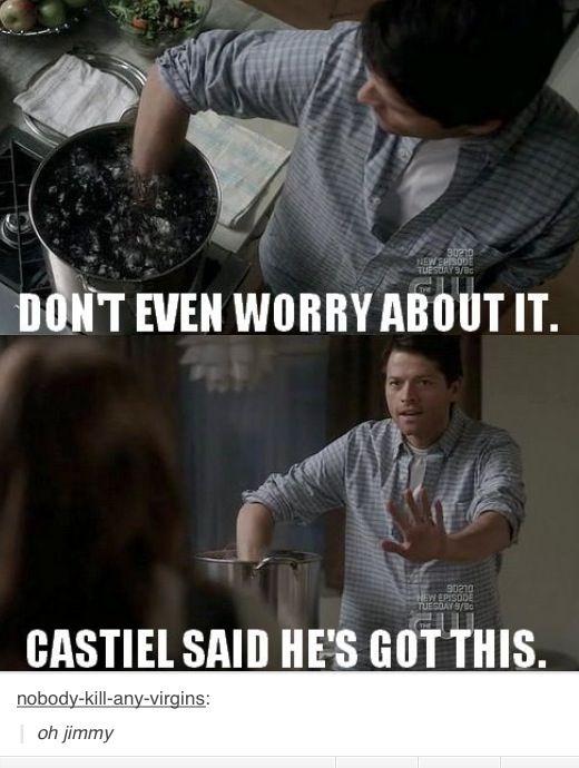 Supernatural castiel said he's got this