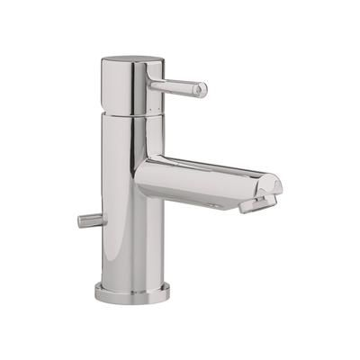 This is an example of a simple single hole faucet. Lots of manufacturers make these at a reasonable price. Get polished chrome.