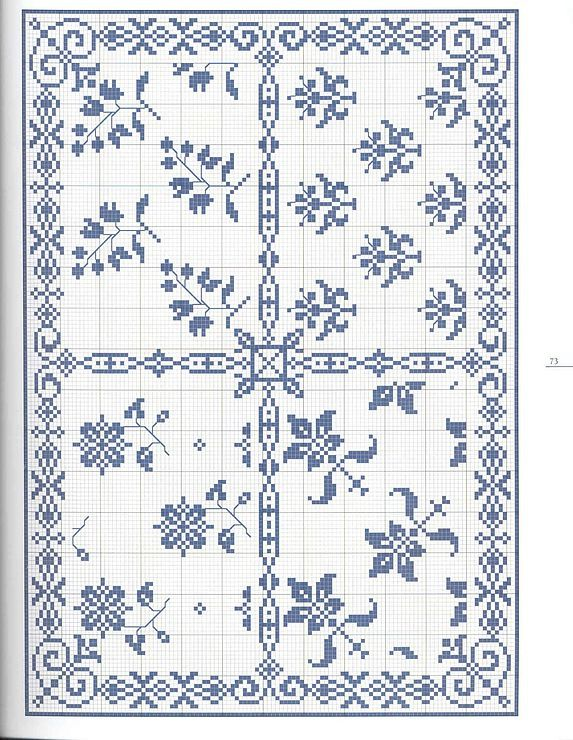 Gallery.ru / Фото #1 - Моно - romasya Cross stitch pattern monochrome border corner