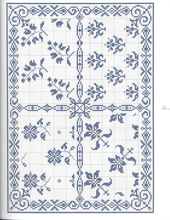 Gallery.ru / Фото #1 - Моно - romasya Cross stitch pattern monochrome border corner