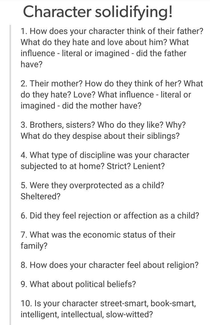 Character Solidifying: 1 (hatten sie sogar zwei Eltern, die sich als männlich identifizierten