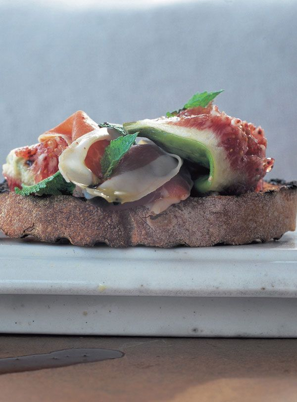 crostini - prosciutto, figs & mint | Jamie Oliver | Food | Jamie Oliver (UK)