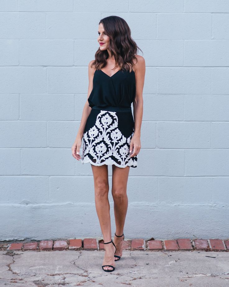 Glam Affair Mesh Applique Skirt