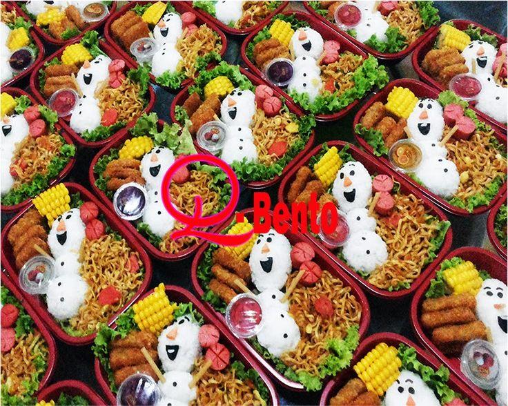 DaniQa Cake and Snack: Bento box Olaf