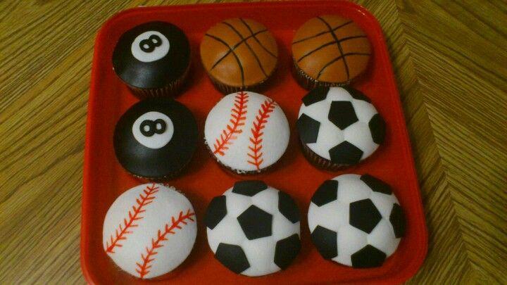 Sport theme cupcake
