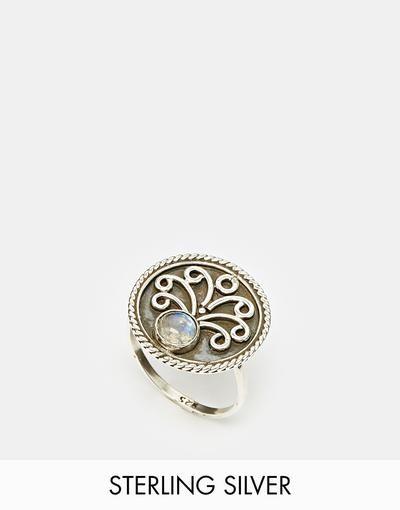 Regal Rose Tree Of Life Rainbow Moonstone Ring - Silver #mediumring #cloudy #covetme #regalrose