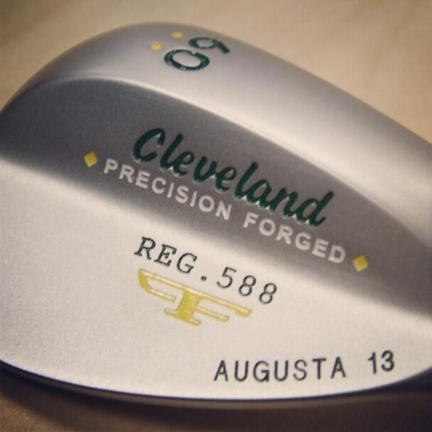 This 'Augusta 13'-stamped 588 wedge is a preview of something coming soon, says Cleveland Golf.