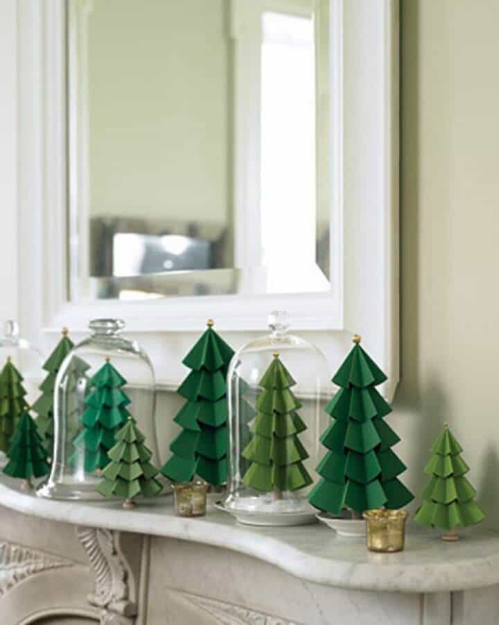 How to make paper christmas trees paper Pinterest Christmas
