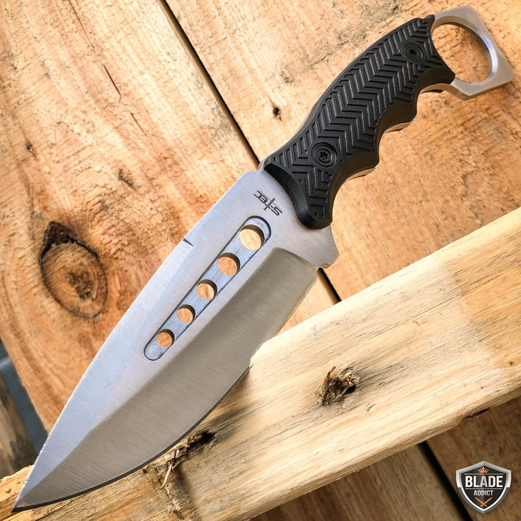 8.5″ Fastened Blade Tactical Looking Knife with Paddle ABS Belt Loop Holster Sheath