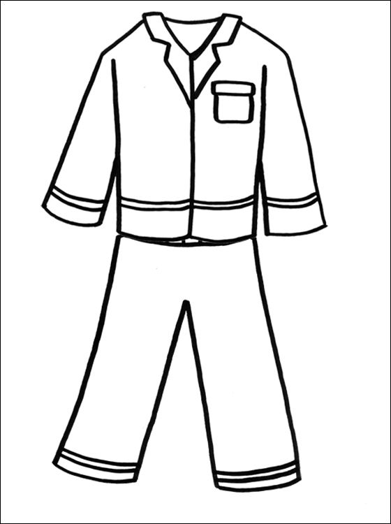 pajama theme coloring pages - photo#2