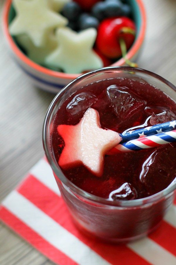 Red White and Blue Sangria - Foodtastic Mom