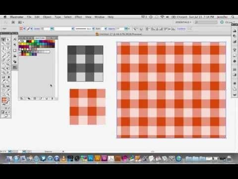 Creating a Gingham Pattern in Adobe Illustrator