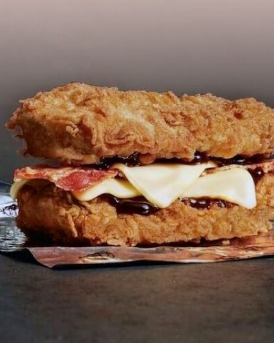 KFC Double Down Copycat Recipe   FastFood-Recipes.com   The KFC Double Down Recipe is here. Follow this copycat recipe to cook your own homemade Double Down burger. It tastes just as good as you remember!