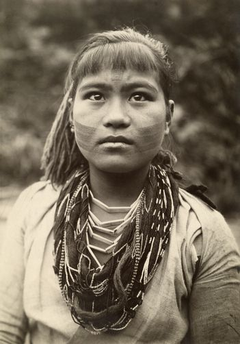 An woman of the Atayal group is of marriageable age denoted by tattoos.