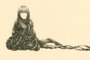 Stella Lee's Strands – view more (hairy) images @ http://www.juxtapoz.com/Illustration/stella-lees-strands – #illustration #tangledup #stellalee