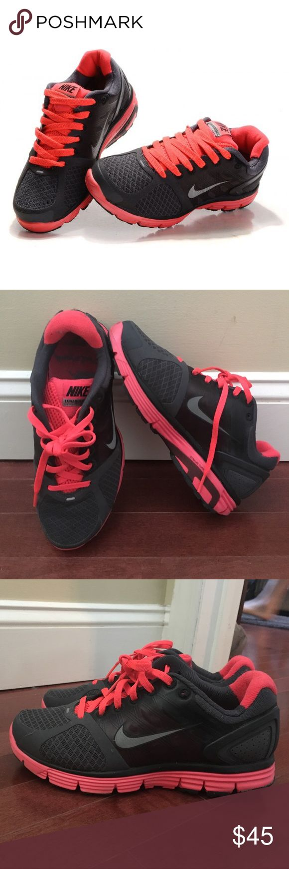 Nike Lunarglide 2 Sneakers Nike Lunarglide 2 Sneakers in black and hot pink.  Good condition. Nike Shoes Sneakers