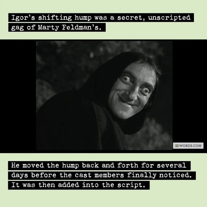 Movie Facts -- Young Frankenstein -- Igor / Marty Feldman