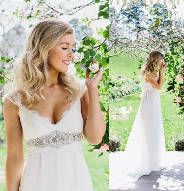 2016 Empire Wedding Dresses With Crystal Belt Sweetheart Cap Sleeves Lace Maternity Bridal Dresses Sweep Train Long Vestido De Novia Wedding Dresses Short Weddings Dresses From Wedding_present, $128.9| Dhgate.Com