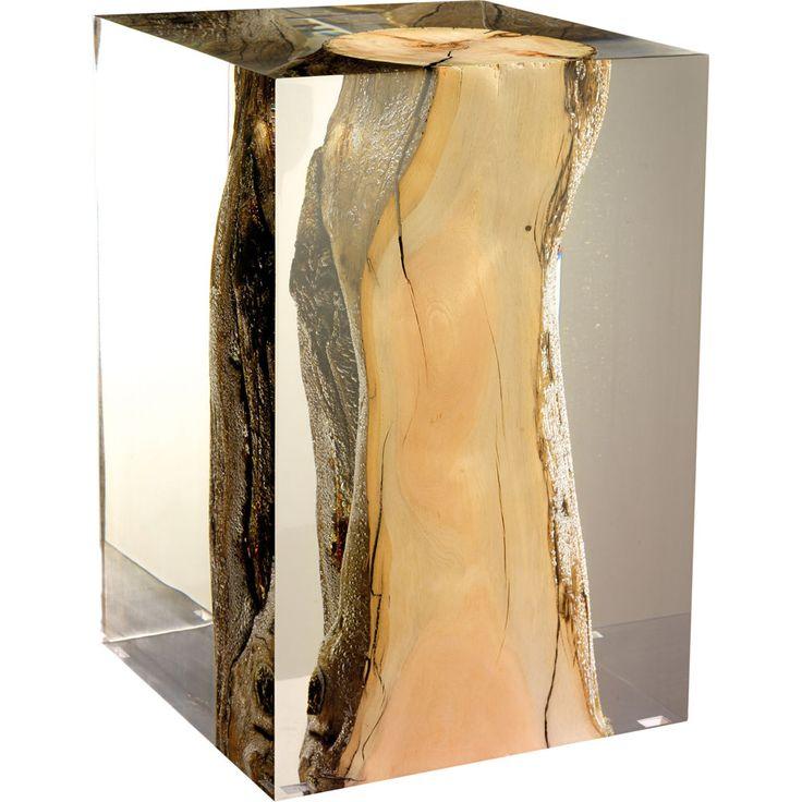 acrylic + driftwood stool