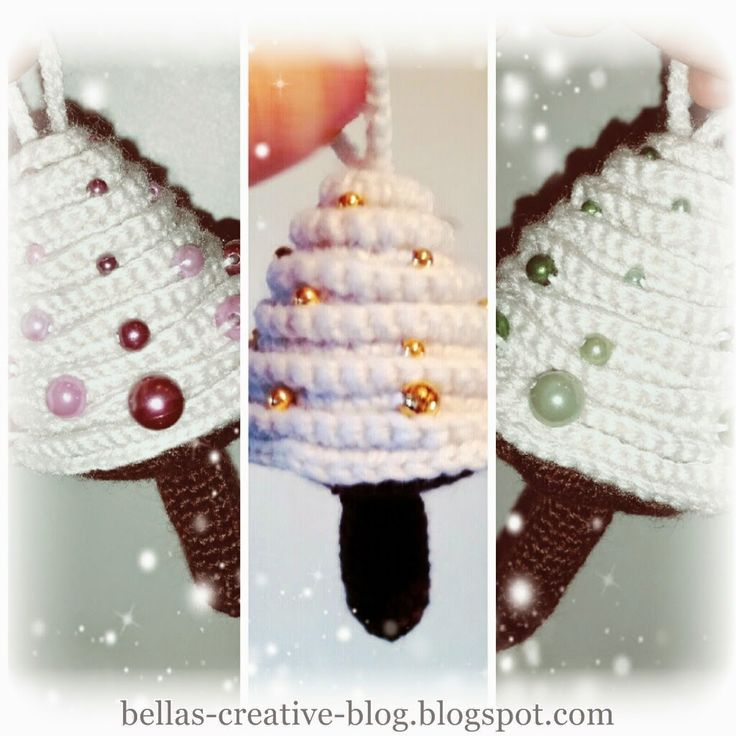 Crocheted chrismas trees - Bella´s Creative Blog