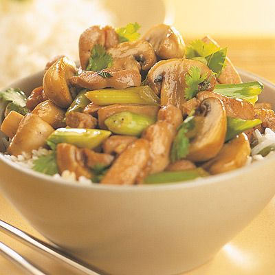 Everyday Easy Quick Meals : Stir-fried Chicken & Mushrooms recipe by Simon Holst