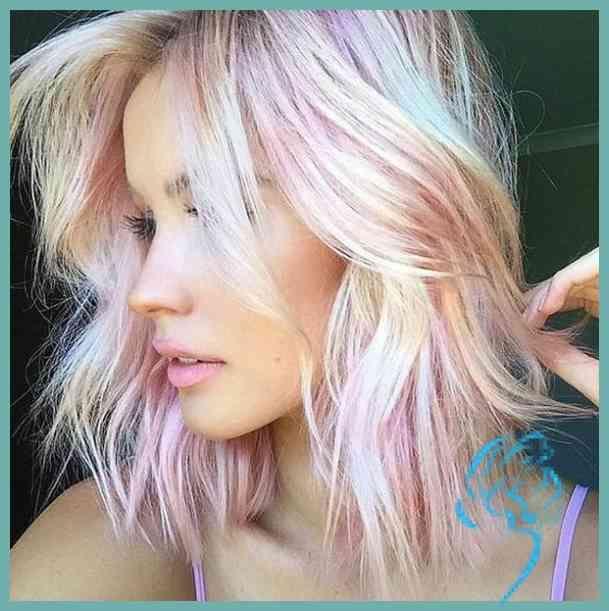 Pinkfarben sehen auch toll aus für Leute mit blondem oder gebleichtem Haar … | Damen Frisuren