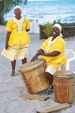 Livingston,  Guatemala                            Garifuna hand drummers... rhythms on the beach..