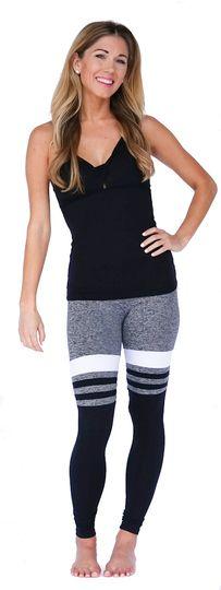 Grey Baseball Print Workout Legging - Mia Brazilia Activewear