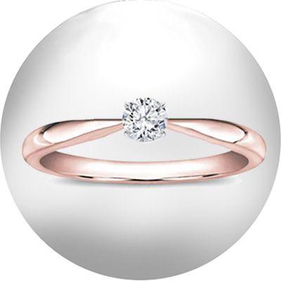 PROMOCIÓN: 10 anillos de compromiso por 399 €. Anillo de compromiso realizado en oro rosa de 18 Kt. con diamante talla brillante montado en grapa