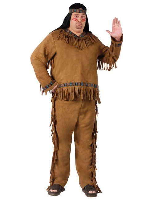 Indianer Western XL Kostüm braun , günstige Faschings  Kostüme bei Karneval Megastore, der größte Karneval und Faschings Kostüm- und Partyartikel Online Shop Europas!