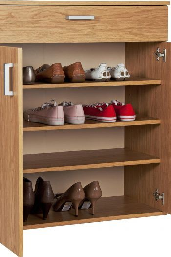 HOME Venetia Shoe Storage Cabinet Oak Effect 1 220x330 Storage solutions to prevent a cluttered home