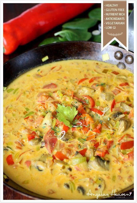 Easy vegetarian coconut curry