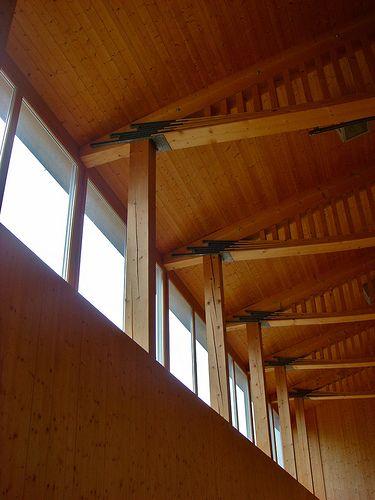 Multi-purpose hall by Gion Caminada - Vrin, Switzerland