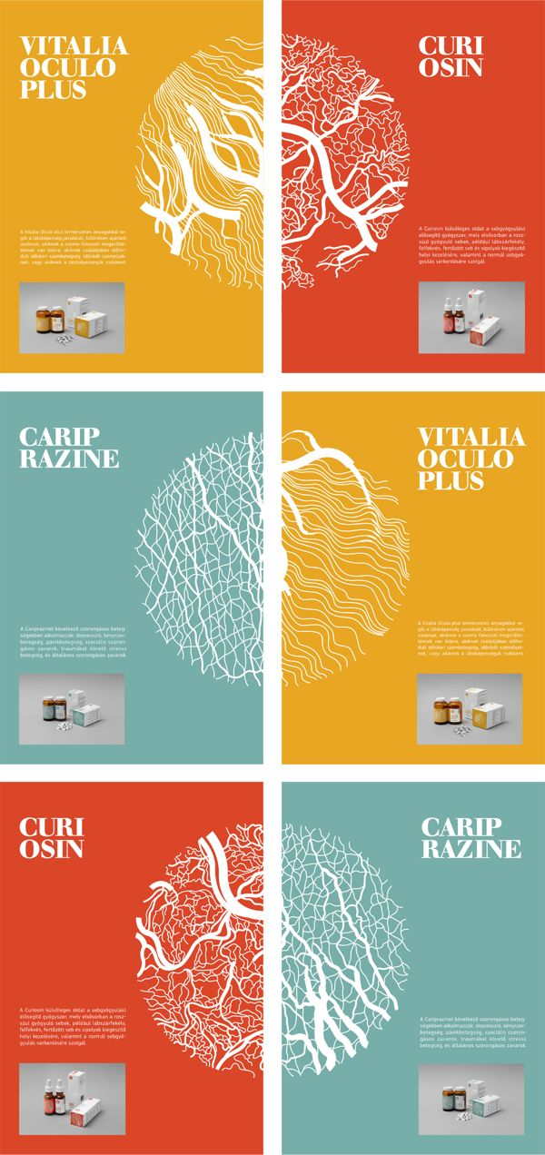 MEDICINE PACKAGE DESIGN / 2012 by Dora Novotny, via Behance