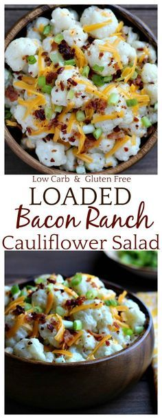 The Loaded Bacon Ranch Cauliflower Salad is so good that you wont even miss the potatoes! Its perfect for keto low-carb and gluten free diets. It makes a great side dish for summer barbecues and cookouts and it a great option to bring to parties or a get-together with family and friends! Everyone will love it! Recipe : http://ift.tt/1hGiZgA And @ItsNutella  http://ift.tt/2v8iUYWThe Loaded Bacon Ran