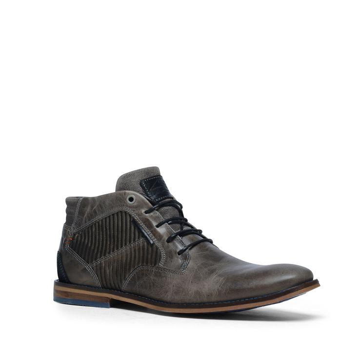 Grijze hoge veterboots  Description: Grijze veterschoenen mogen niet ontbreken in uw schoenencollectie! Deze schoenen hebben een binnen- en buitenzijde van leer. De schoenen combineert u gemakkelijk met een casual outfit zoals een mooie jeans en een overhemd. Bijzonder aan dit model zijn de blauwe details wat goed afsteekt tegen de grijze kleur. De maat valt normaal.  Price: 65.99  Meer informatie  #manfield