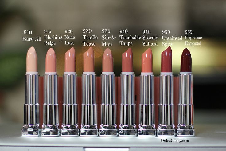 Maybelline nude lipsticks