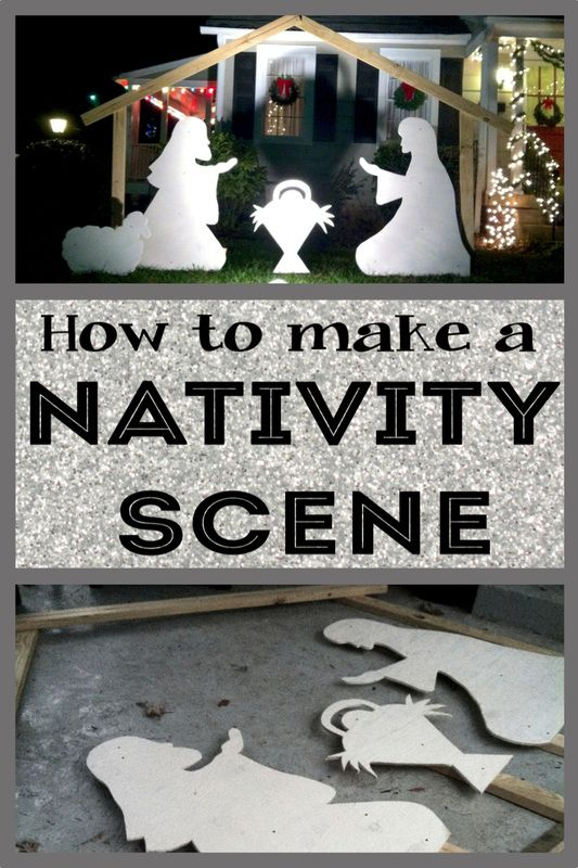 DIY: How to make an outdoor Nativity Scene. And It only costs $52!