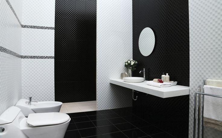 Черно-белая плитка марки ROMAN Pre Cut Libra. Чёрно-белый цвет – это всегда беспроигрышный вариант! И кто бы мог подумать, что такое сочетание может так прекрасно воплотиться в дизайне ванной? Древняя восточная мудрость гласит: «Во всём есть инь, во всём есть ян»: ещё издавна было понятно, что эти цвета гармонируют более остальных. Два простых цвета в паре создадут неповторимый шедевр. В нашем магазине вы найдете не только строительные материалы, но и такие вещи, как инсталляции…